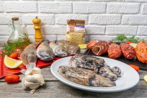 pesce fresco pronto da cucinare
